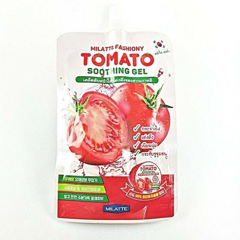 Осветляющий гель для лица и тела с экcтрактом томата Milatte Fashiony Tomato Soothing Gel 50мл (8809535260000)