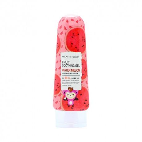 Универсальный гель для лица и тела с экстрактом арбуза Milatte Fashiony Fruit Soothing Gel Watermelon 200 мл (8803348029366)