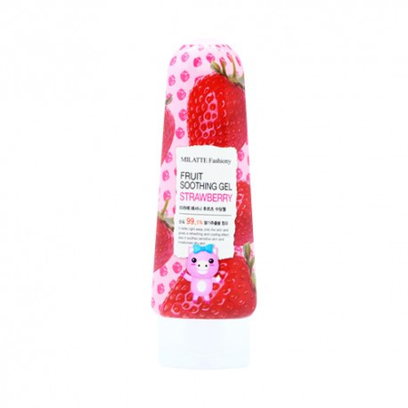 Универсальный гель для лица и тела с экстрактом клубники Milatte Fashiony Fruit Soothing Gel Strawberry 200 мл (8803348029359)