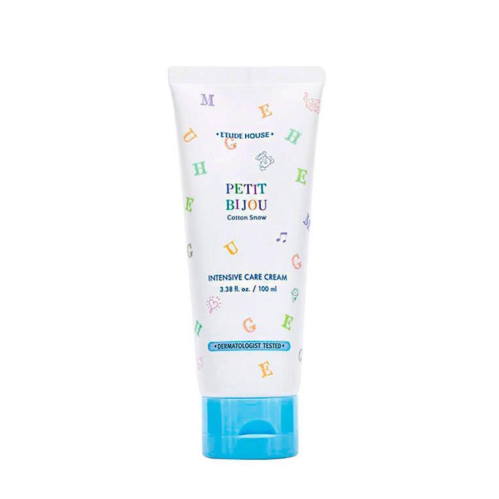 Интенсивно увлажняющий крем для тела Etude House Petit Bijou Cotton Snow Intensive Care Cream 100 мл (8806382610958)