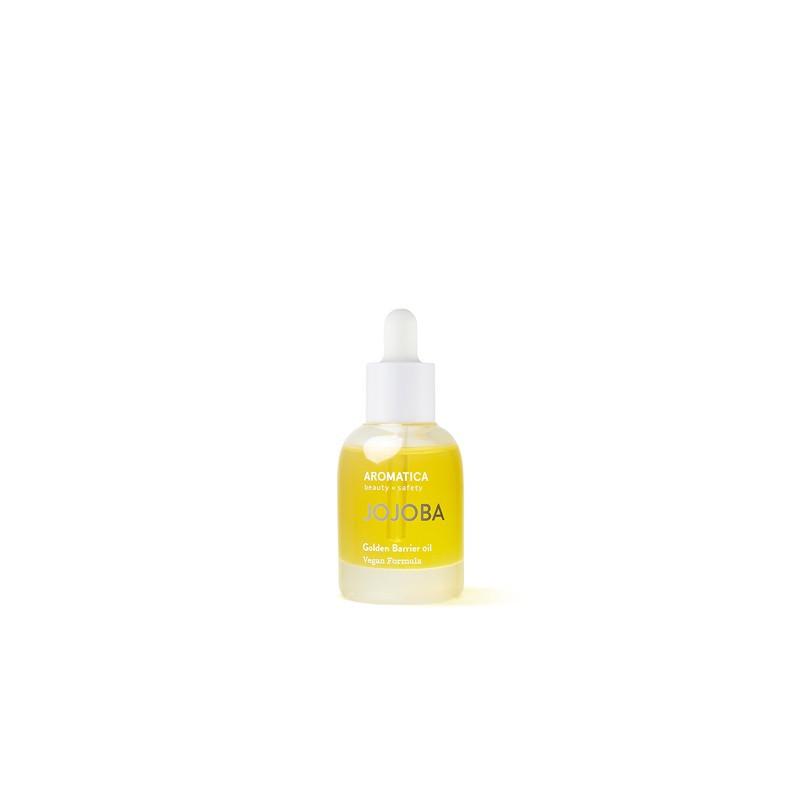 Интенсивно увлажняющее органическое 100% масло жожоба Aromatica Jojoba Golden Barrier Oil 30 мл (8809151132125)
