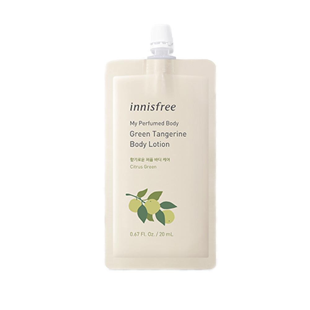 Парфумований лосьйон для тіла зелений мандарин Innisfree My Perfumed Body Lotion To Go Green Tangerin 20 мл