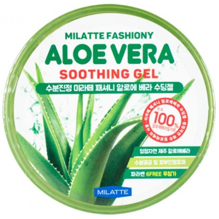 Увлажняющий многофункциональный гель для лица и тела с алоэ Milatte Fashiony Aloe Vera Soothing Gel 300 мл (8809535260079)