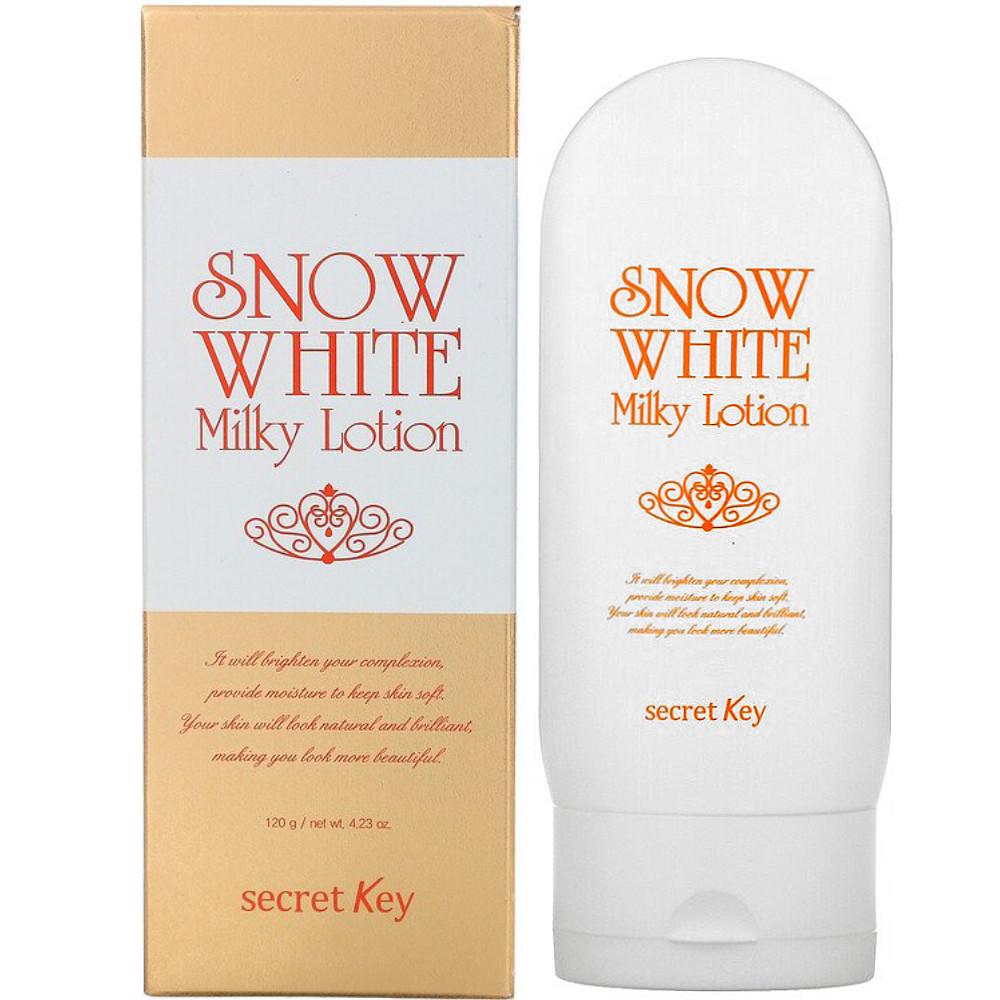 Лосьон для тела и лица с эффектом отбеливания Secret Key Snow White Milky Lotion 120 мл (8809305994616)