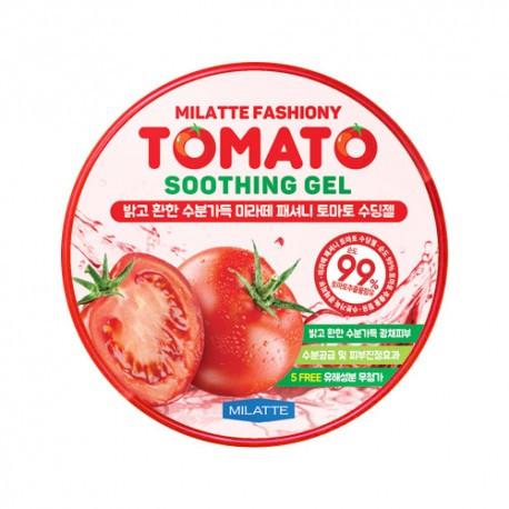 Осветляющий гель для лица и тела с экcтрактом томата Milatte Fashiony Tomato Soothing Gel 300 мл (8809485970820)