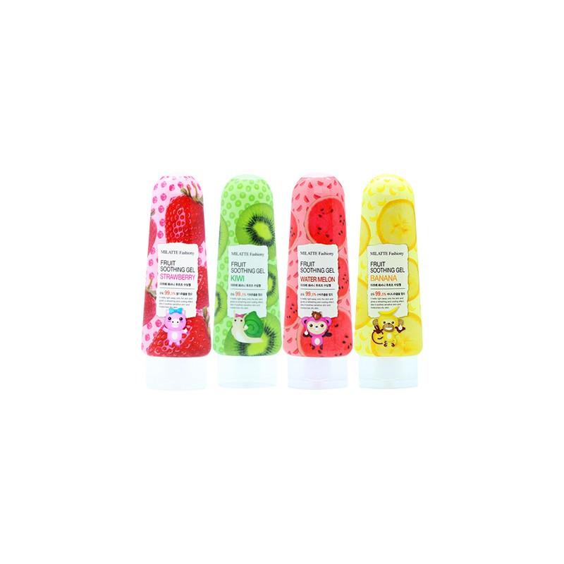 Универсальный гель для лица и тела с экстрактом киви Milatte Fashiony Fruit Soothing Gel Kiwi 200 мл (8803348029373)