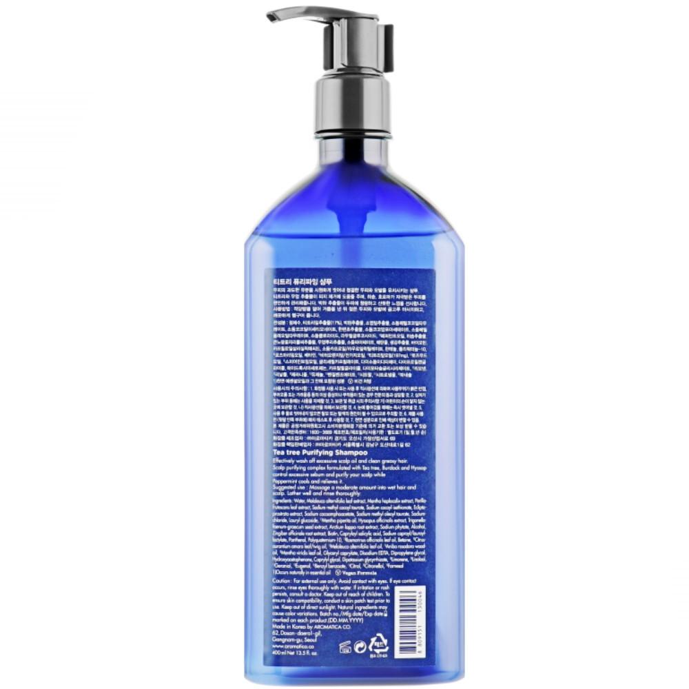 Бессульфатный шампунь с чайным деревом для жирной кожи головы Aromatica Tea Tree Purifying Shampoo 900 мл (8809151130138)