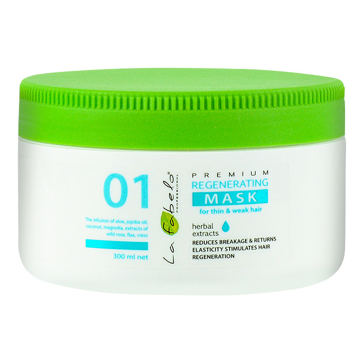 Маска регенерирующая для тонких и слабых волос La Fabelo Premium 01 Regenerating Mask 300 мл (01490100901)