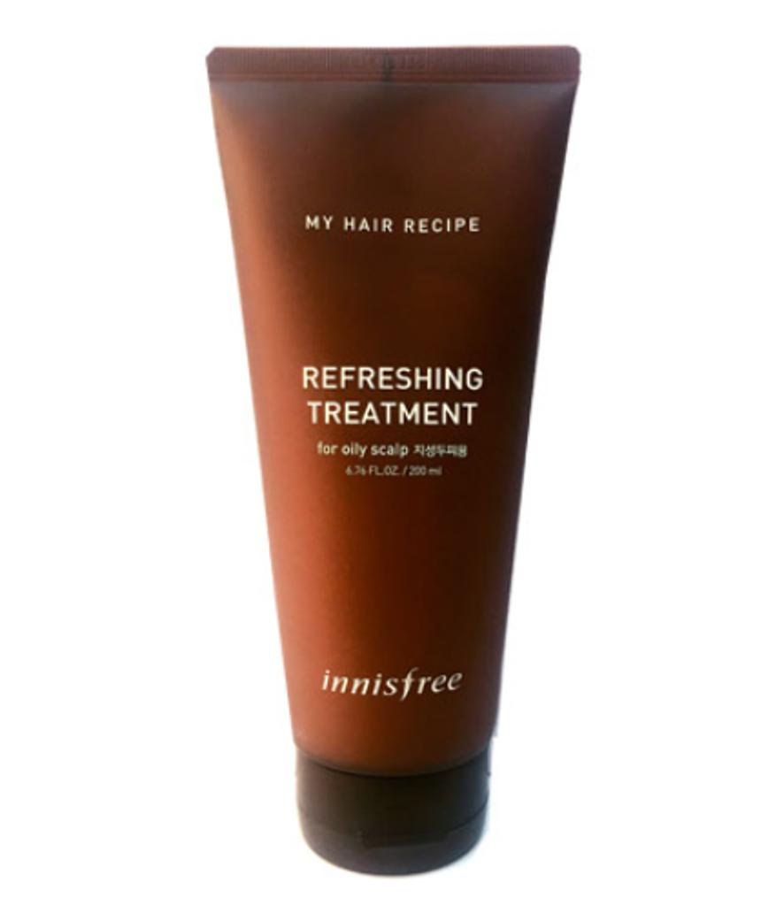 Освежающий кондиционер для жирной кожи головы Innisfree My Hair Recipe Refreshing Treatment Oily Scalp 200 мл (8809612855815)