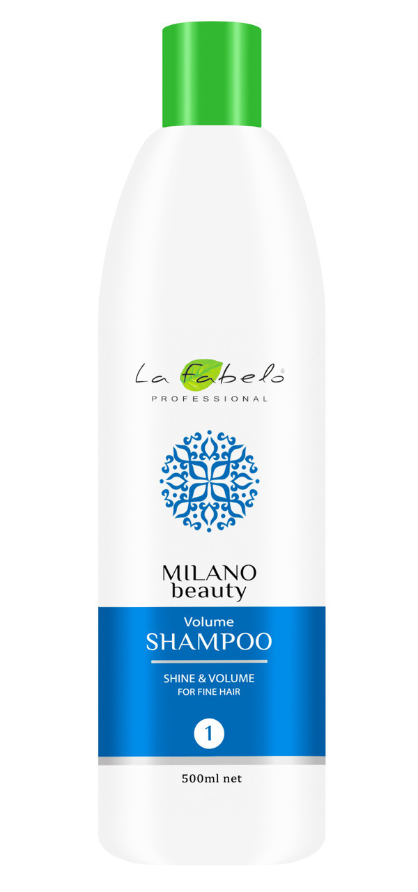 Шампунь для придания объема тонким волосам La Fabelo Milano Beauty Volume 500 мл (01490108801)
