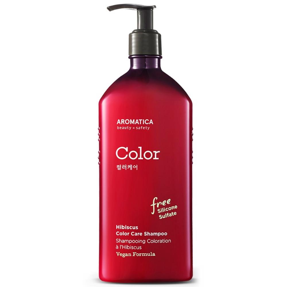 Бессульфатный шампунь для окрашенных волос Aromatica Hibiscus Color Care Shampoo 400 мл (8809151130701)