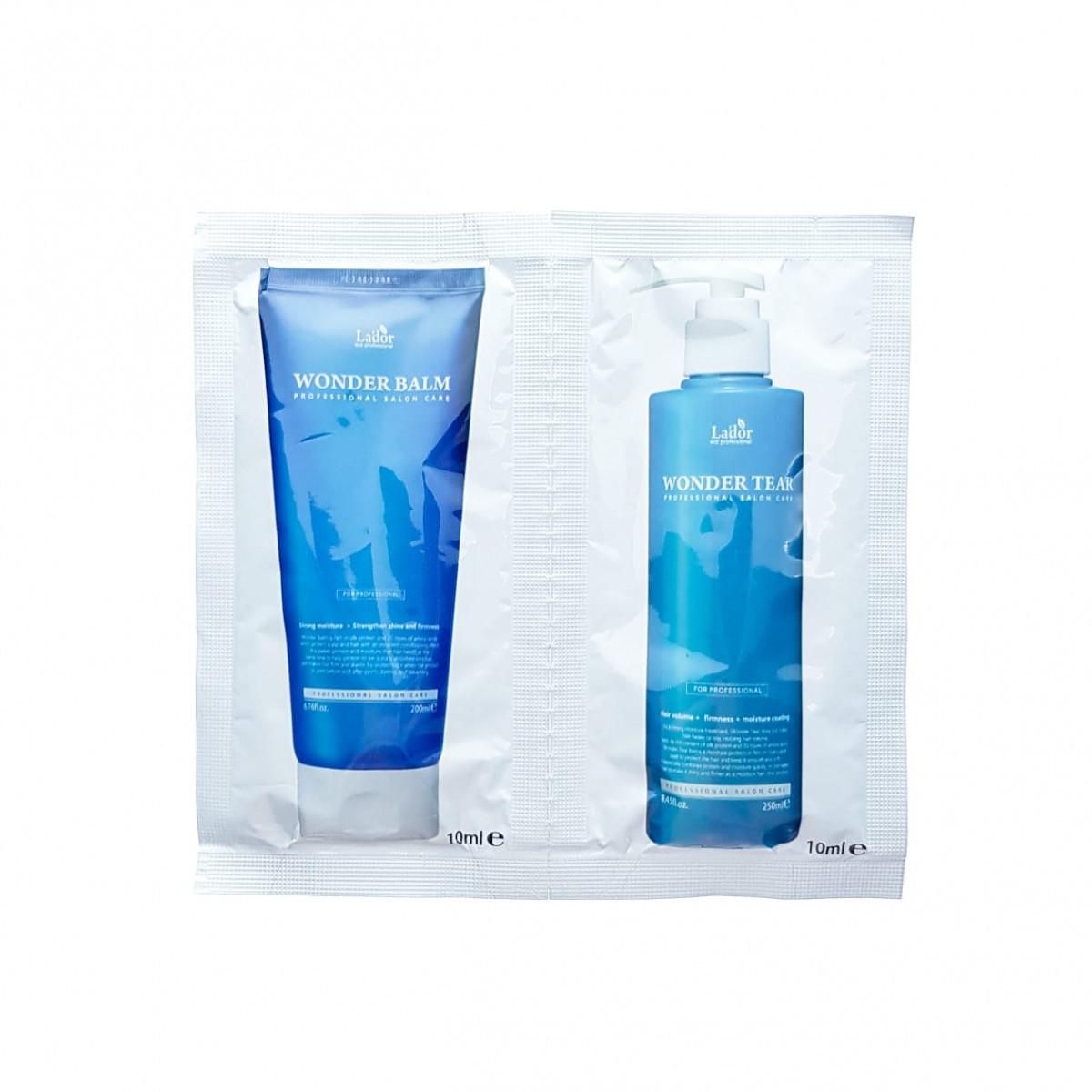 Двухшаговый уход за волосами (набор из бальзама и маски) La'dor Wonder Clinic Pouch Set 10 мл + 10 мл (8809181937950)