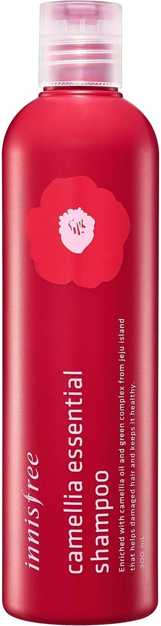 Шампунь для восстановления поврежденых волос с маслом камелии Innisfree Camellia Essential Shampoo 300 мл (8806173543465)