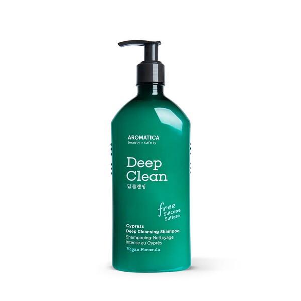 Бессульфатный шампунь для глубокого очищения с кипарисом Aromatica Cypress Deep Cleansing Shampoo 400 мл (8809151131586)