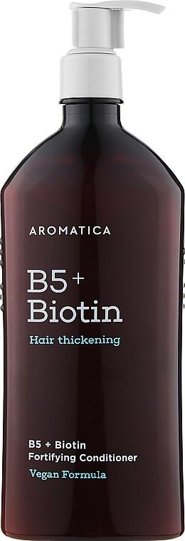 Бессиликоновый укрепляющий кондиционер для волос Aromatica B5+Biotin Fortifying Conditioner 400 мл (8809151131197)