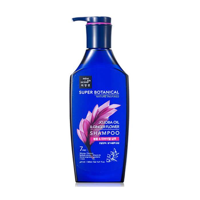 Шампунь для волос с маслом жожоба Mise en Scene Super Botanical Jojoba Oil & Ginger Flower Shampoo 500 мл (8809559361264)
