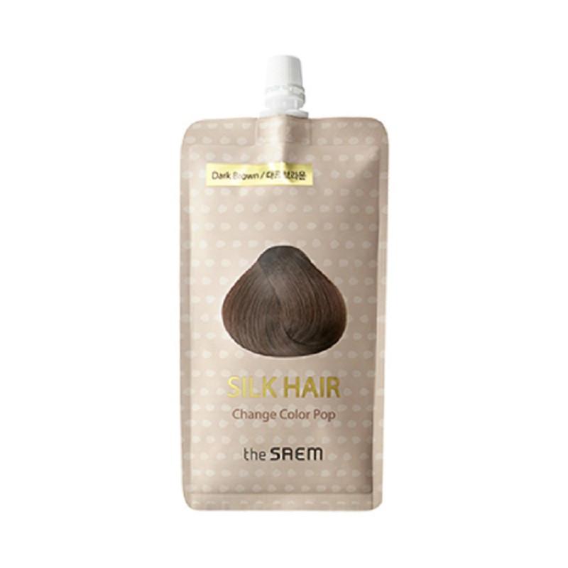 Быстродействующая краска для волос The Saem Silk Hair Change Color Pop Dark Brown 25 мл (8806164149317)