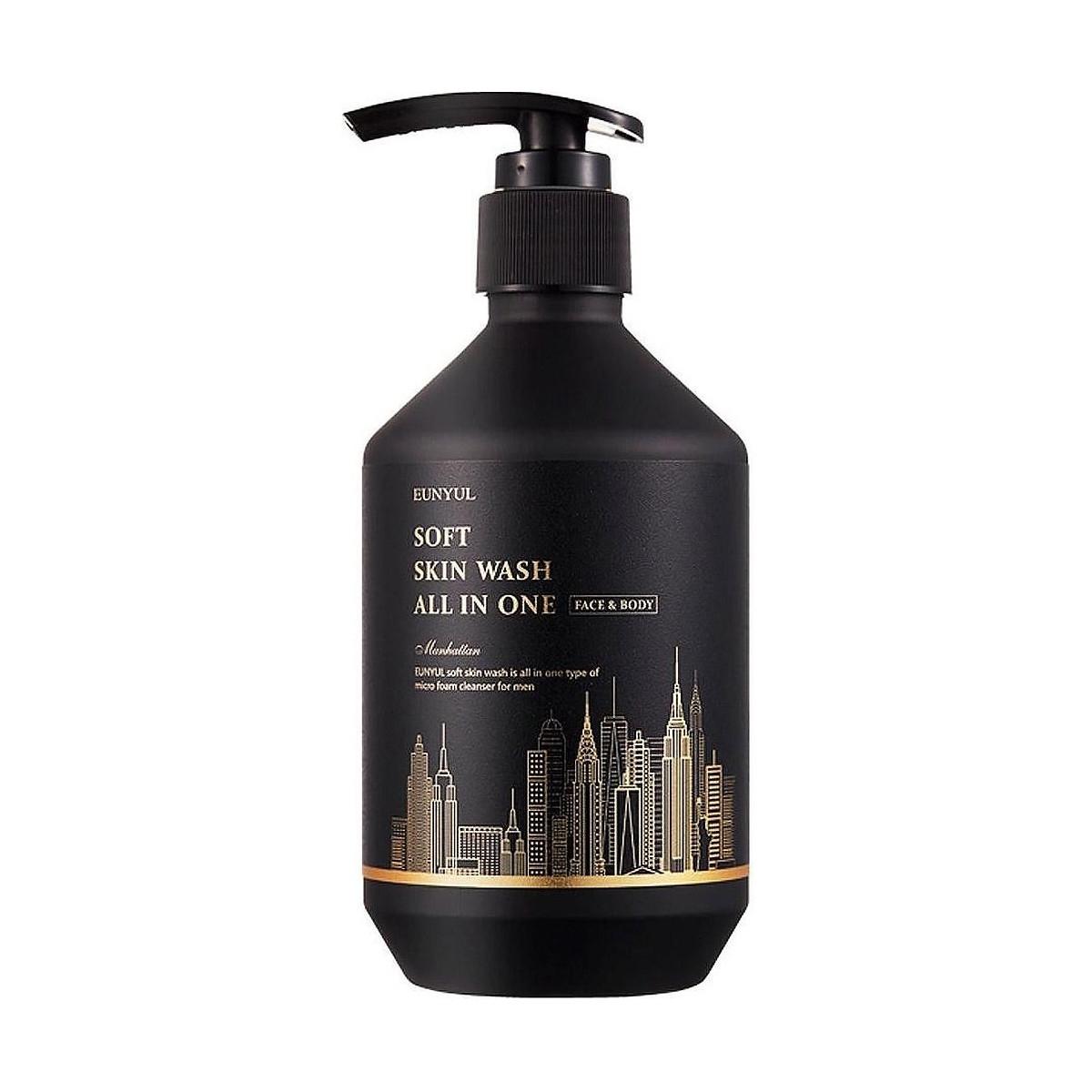 Многофункциональный очищающий гель для мужчин Eunyul Soft Skin Wash All In One 250 мл (8809435403750)