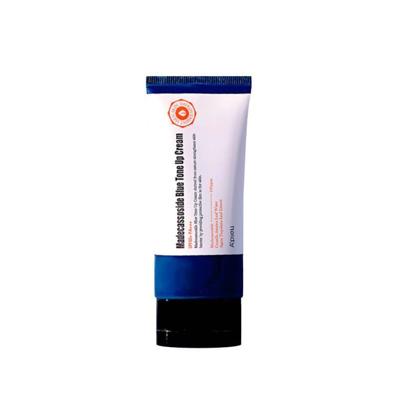 Лёгкий тонирующий крем для мужской кожи лица с мадекассосидом A'pieu Madecassoside Blue Tone Up Cream 50 мл (8809581476349)