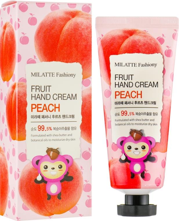 Крем для рук фруктовый персик Milatte Fashiony Fruit Hand Cream Peach 60 мл (8803348029281)