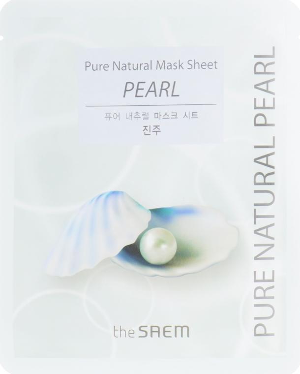 Маска для лица с жемчугом The Saem Pure Natural Mask Sheet Pearl 20 мл (8806164141939)