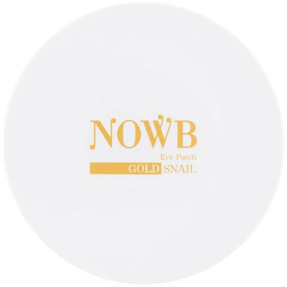 Гидрогелевые патчи под глаза с муцином улитки Nowb Eye Patch Gold Snail 60 шт 87 г (8809532990221)