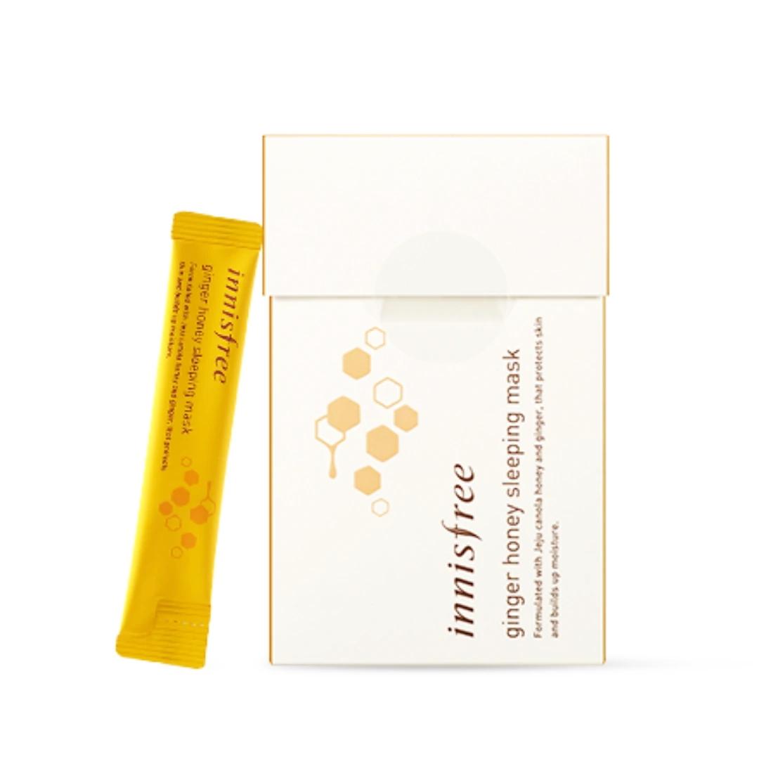 Ночная питательная маска для лица  с экстрактом имбиря и меда Innisfree Ginger Honey Sleeping Mask 4 мл х 15 (8809612841405)